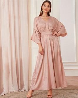 Batwing Sleeve Floral Modest Maxi Dress