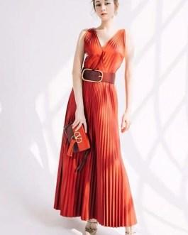 Elegant Designer Runway Sexy Long Dress