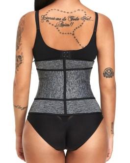 Front Zip Magic Sticky Waist Trainer Sweat Double Fixed Shapewear