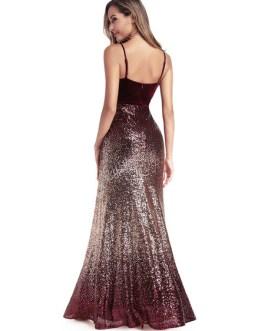 Sequin Party Backless Zipper Maxi Dresses