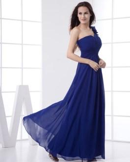Elegant Floor Length One Shoulder Bridesmaid Dress