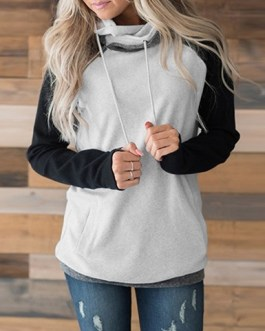 Classic Hooded Sweatshirt with Thumb Holes