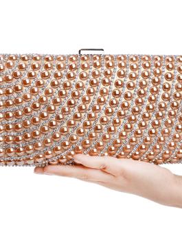 Colorful Beaded Metal Wedding Handbags