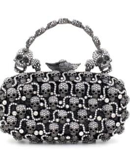 Diamond Skull Evening Clutch