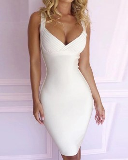 Sexy Spaghetti Strap Knitted Party Dress