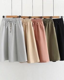 Lace Up A Line Elegant Skirt
