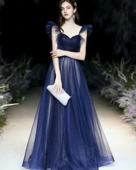A Line Strapless Matte Satin Sleeveless Ruffles Party Dresses