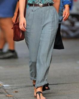 Casual Button Solid Color Harem Pants Trouserss