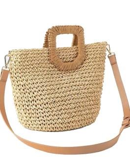 Fashion Big Tote Knitted Straw Beach Handbags