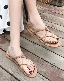 Chic Open Toe Flat Sandals