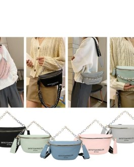 Casual Letters Handy Carry Leather Phone Pouch Messenger Bag
