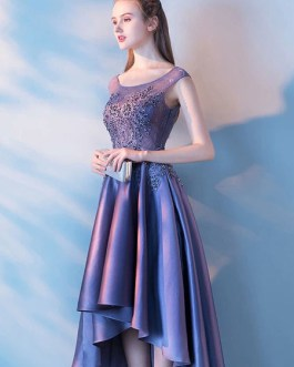 Homecoming High Low Prom Lace Beading Party Dresses