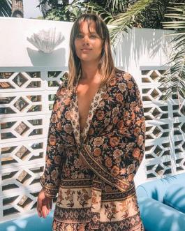Long Sleeve Sexy Long Jacket Boho Beach Loose Cover Up Cardigan