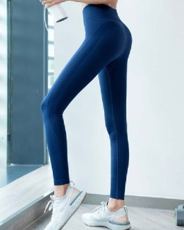 Sexy Skinny Polyester Natural Waist Trousers Yoga Pants