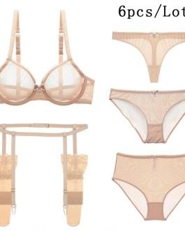 Sexy lingerie Low Waist 6 Piece Set