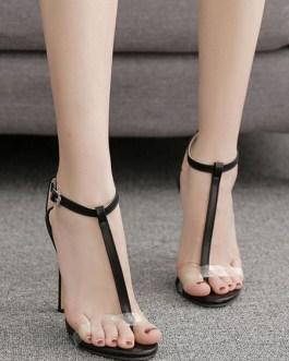 Stiletto Heel Open Toe Sandals Women's Shoes