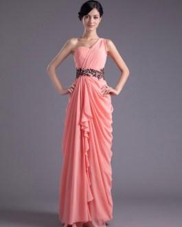 Chiffon One-Shoulder Bridesmaid Dress