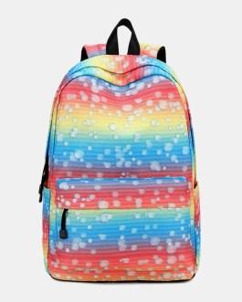 Colorful Large Capacity Waterproof Backpack School Bag