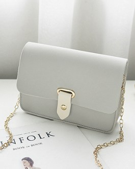 Cross Body Handbag – Pointed Strap Closure  Envelope Flap  Chain Strap