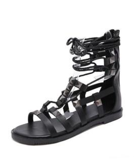 Flat Chic Lace Up Flat Sandals