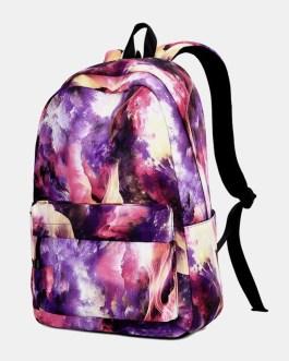Large Capacity Galaxy Waterproof Backpack School Bag