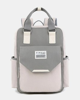 Fashion Multi-color Anti-theft Backpack