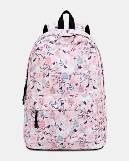 Print Waterproof Casual Backpack School Bag