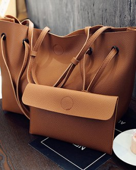 Two Piece Bag Set – Tote with Optional Strap Styles Matching Wallet