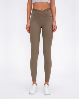 V-Cut Waist Naked-feel Fabric Sport Yoga Pants Leggings