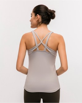 Breathable Padded Workout Fitness Tank Tops