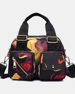 Casual Handbag Flower Printed Crossbody Bag