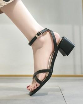 Cross Strap Office Open Toe Sandals