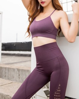 Hollow Out Padded Sports Bra Top