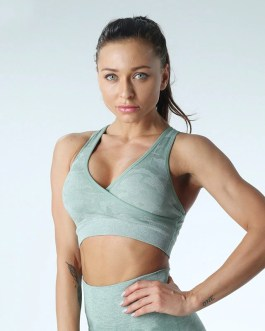 Quick Dry Wireless Workout Gym Crop Top