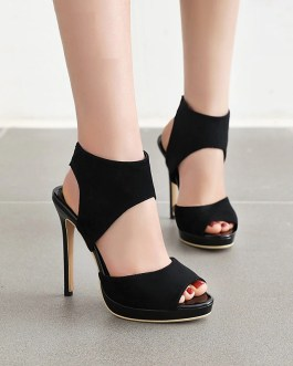 Sexy Peep Toe Stiletto High Heels Sandals