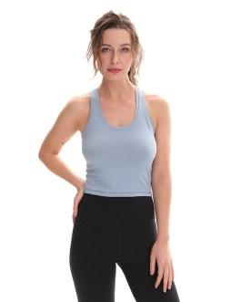 Soft Nylon Yoga Blouses Gym T-Shirt