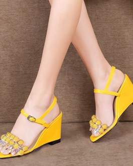 Wedges High Heels Crystal Fashion Sandals