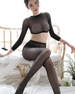 Sexy Lingerie Transparente Nylon Lace Slim Fit Bodystocking Hosiery