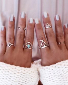 6-piece Geometric Rings