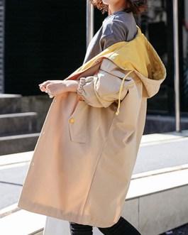 Casual Hooded Long Sleeve Drawsring Coat