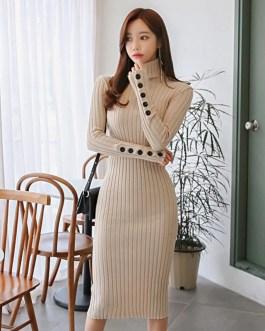 Casual Long Stretch Elastic Skinny Sweater Dress