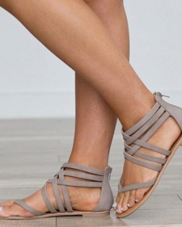 Cross Strap Ankle Sandals