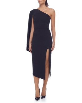 Elegant One Shoulder Runway Midi Party Dresses