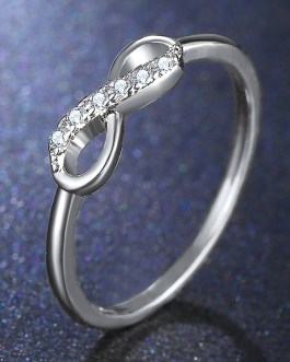 Fashion Infinity Crystal Statement Cross Party Ring
