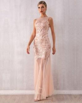 Sexy Sleeveless Sequined Club Dress