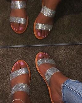 Sparkle Sandals – Flat Soles