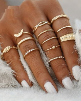 Vintage Boho Knuckle Party Rings Punk Jewelry Gift