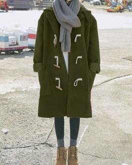 Casual Polyester Duffle Long Sleeve Overcoat Lolita Outwears