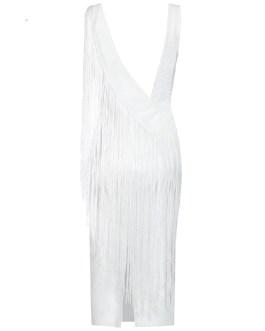 Fringe Sexy Backless Tank Club Night Out Bandage Dress