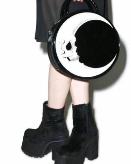 Gothic Lolita Skull PU Leather Cross Body Bag